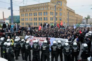 2010-04-30 Demo gegen Nazikneipe  Zum Henker in Berlin