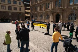 2013-05-12 Mahnwach vor Justizministerium, Stuttgart (St'Anna di Stazzema)